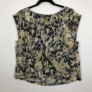 French connection small square shoulder crop top